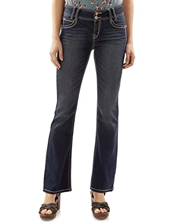 d67387bf01 WallFlower Women's Instastretch Luscious Curvy Bootcut Jeans