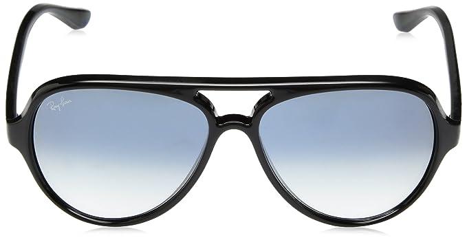020e17e4e6 Amazon.com: Ray-Ban Men's Cats 5000 Aviator Sunglasses, BLACK, 59 mm:  Clothing