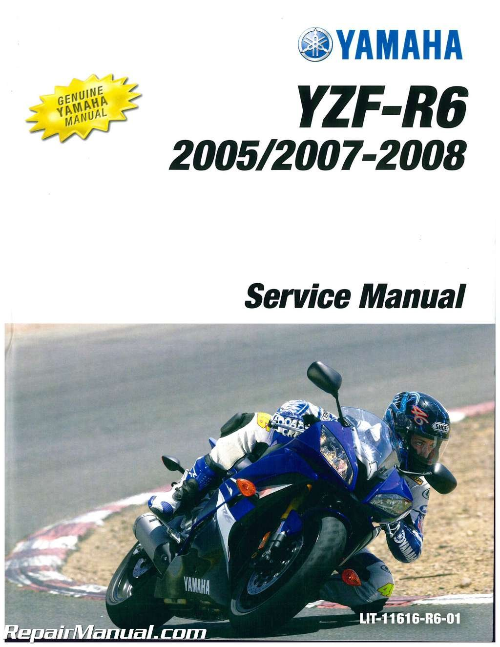 LIT-11616-R6-01 2003-2005 Yamaha YZF-R6 and 2006-2009 YZF-R6S Service Manual:  Manufacturer: Amazon.com: Books