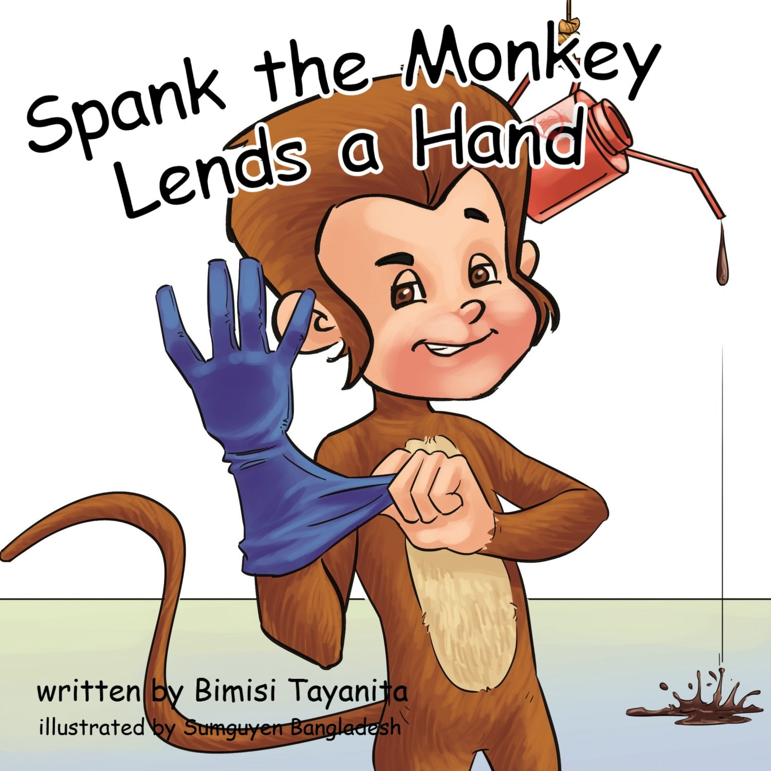 monkey spank Cartoon