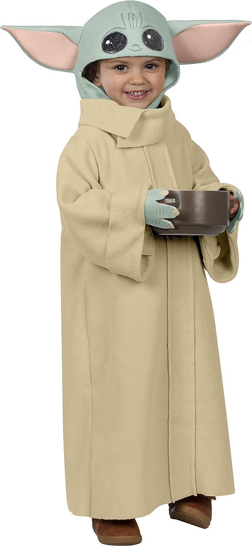 Kids Star Wars The Mandalorian Baby Yoda Cosplay Costume Child Book Week Robe