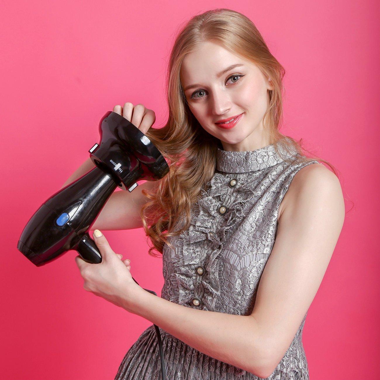 Hairizone difusor Universal para secadores de pelo con boquilla de diámetro 4,3-6,6 cm, para pelo rizado u ondulado, seca y gana el máximo volumen sin ...