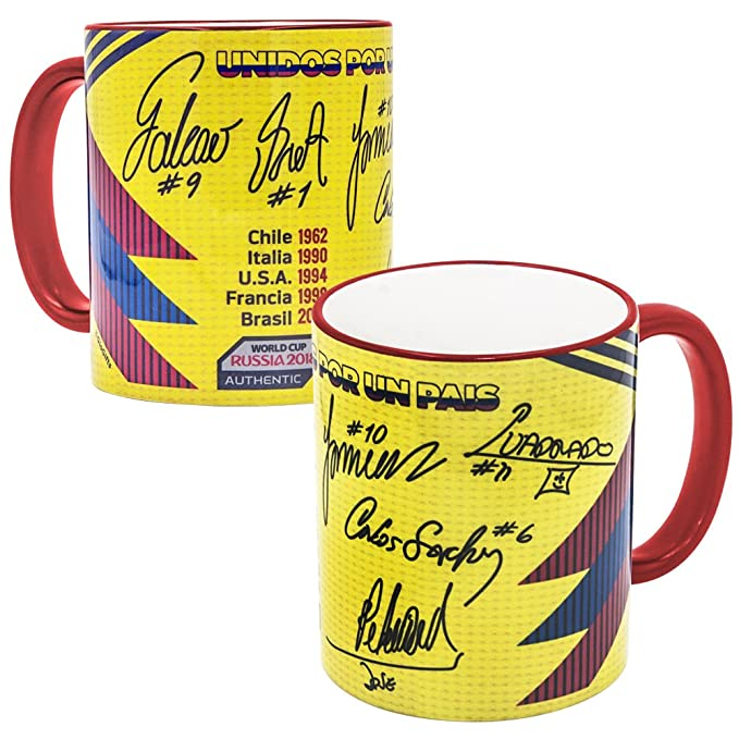 Amazon.com: Gio Gifts Colombia Mug Soccer Coffee/Tea Mugs & Cups 11Oz Collectible: Kitchen & Dining