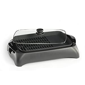 West Bend 6111 Electric Indoor Counter Top Grill with Drip Tray Featuring Temperature Control, Black (Discontinued by Manufacturer)