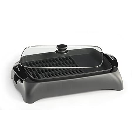 West Bend 6111 Electric Indoor Counter Top Grill with Drip Tray Featuring Temperature Control, Black Discontinued by Manufacturer