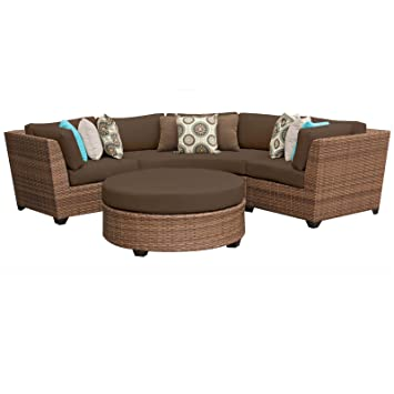 Amazoncom TK Classics Piece Laguna Outdoor Wicker Patio - Wicker patio furniture sets
