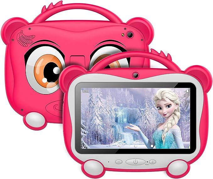 GOODTEL Tablet para Niños 7 Pulgadas Tablet Infantil Android 10.0 Quad-Core Processor, 16GB ROM, HD Pantalla1024*600 Doble Camera(0.3MP+2MP) ...