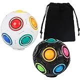 XJSGS Rainbow Ball Rainbow Ball Magic Cube Puzzle Toy Brain Teaser with 10 Rainbow Colors (2pcs)