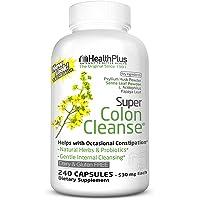 Health Plus Super Colon Cleanse: 10-Day Cleanse -Detox |  6 Cleanses, 240 Capsules