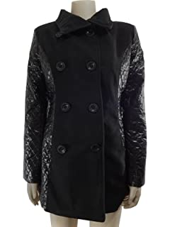 1d280935a44b Nouveau Mode pour Femme Simili Cuir Manches Double Boutonnage Trench Coat  Veste · EUR 28