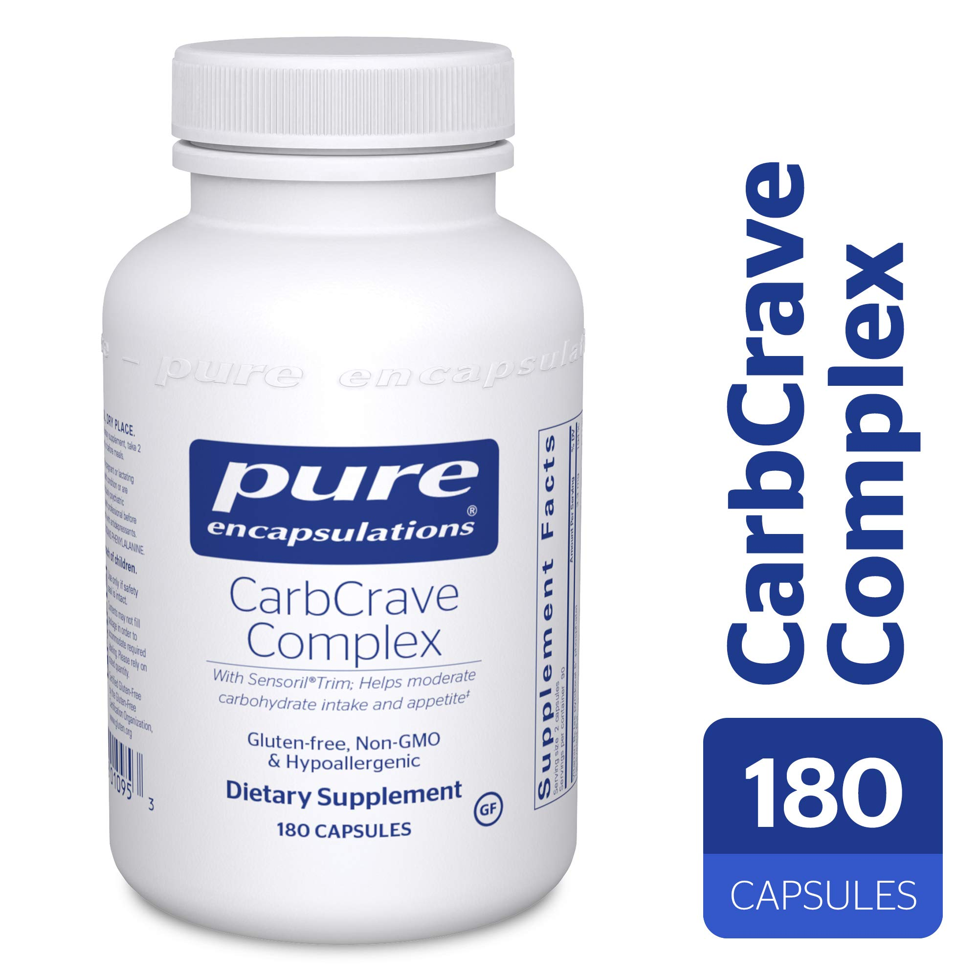 Pure Encapsulations - CarbCrave Complex - with Sensoril Trim to Help Moderate Carbohydrate Intake and Lessen Appetite* - 180 Capsules