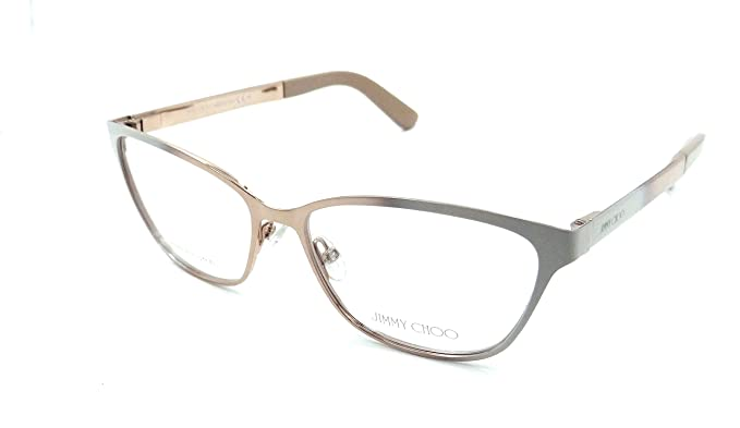 2780763edadf JIMMY CHOO 0224 Nude Gold Eyeglasses at Amazon Men s Clothing store