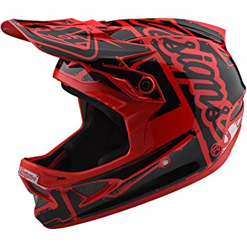 Troy Lee Designs Casco Integral Mtb 2018 D3 Fiberlite Factory Rojo (M, Rojo)