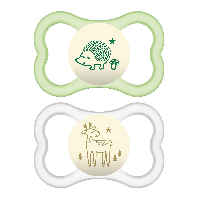 2 Pack Best Pacifier for Breastfed Babies Aqua MAM Air Modern Pacifiers MAM Sensitive Skin Pacifier 16+ Months Unisex Baby Pacifiers
