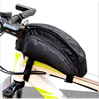 Bike Cycling Frame Bag,FTUNG Head Tube Bag Front Top Tube Frame Pannier Double Bag Cell Phone Bag Saddle Bag Rack Mountain Road Bicycle Pack Double Pouch Mount Phone Bags Crossbar Bag for Smartphone