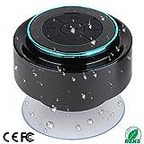Altoparlante per doccia, altoparlante portatile completamente IPX7 Bluetooth con radio FM, altoparlante vivavoce. Ricaricabile usando micro USB, altoparlante perfetto per il golf, la spiaggia, la doccia e la casa