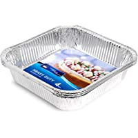HOUZE Square Aluminium Foil Tray (Set of 4) - 207x207x47mm,OKN-17241