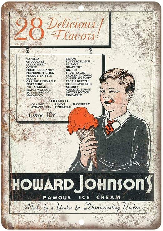Shunry Howard Johnsons Famous Ice Cream Placa Cartel ...