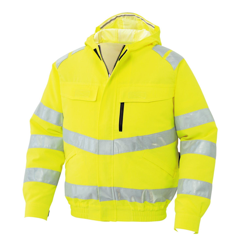 空調服 服のみ 高視認性安全ブルゾン 綿ポリ サンエス 空調風神服 KU91500 B01HHLZB9E XL|10(蛍光イエロー) 10(蛍光イエロー) XL
