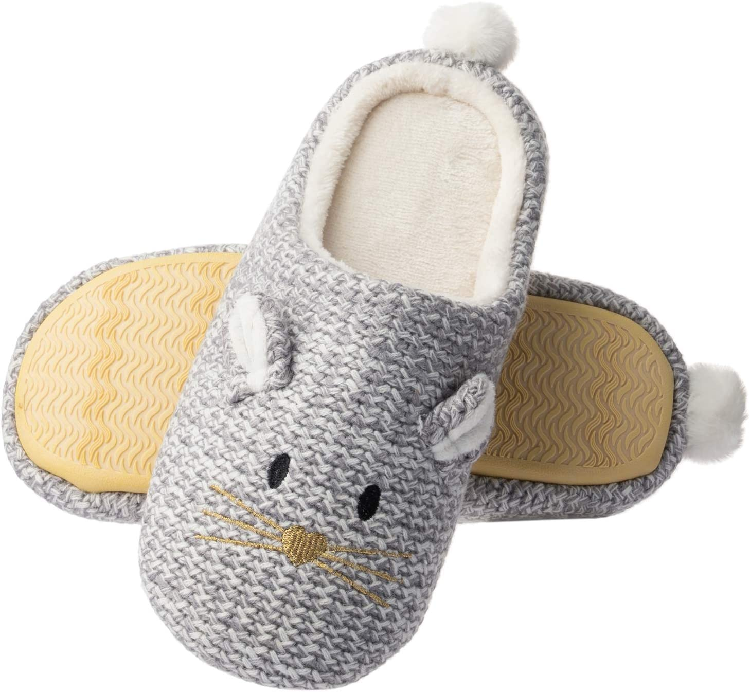 Women Winter Soft Plush Slippers Indoor Home Shoes Soft Sole House Shoes Slipper
