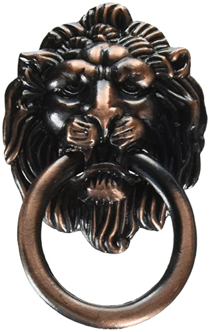 Lion Head Vintage Brass Cabinet Cupboard Door Pull Handle