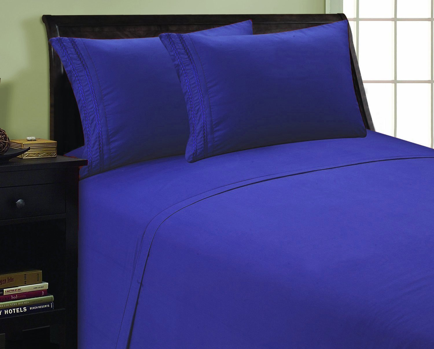2 pc Pillowcase- King/California King Royal Blue