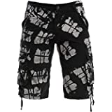 Santfe Men's Summer Cotton Cargo Shorts Casual Multi Pocket Outdoor Pants