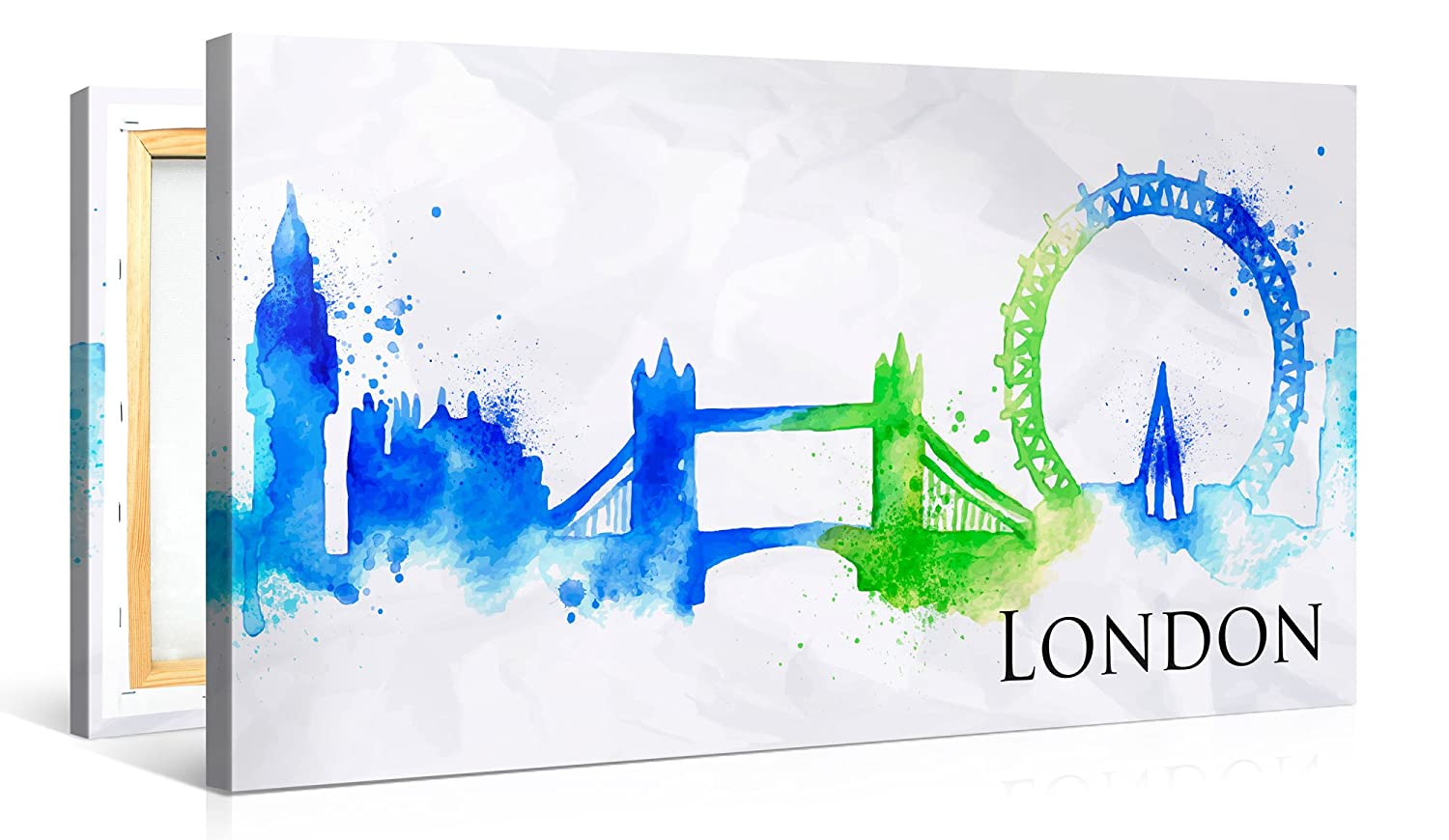 Amazon.de: Premium Leinwanddruck 100x50 cm - London - XXL Kunstdruck ...