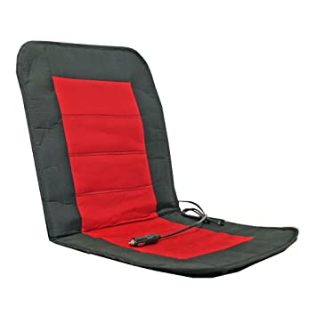 Alpin 74301 Car Seat Heating Pad, Black And Red