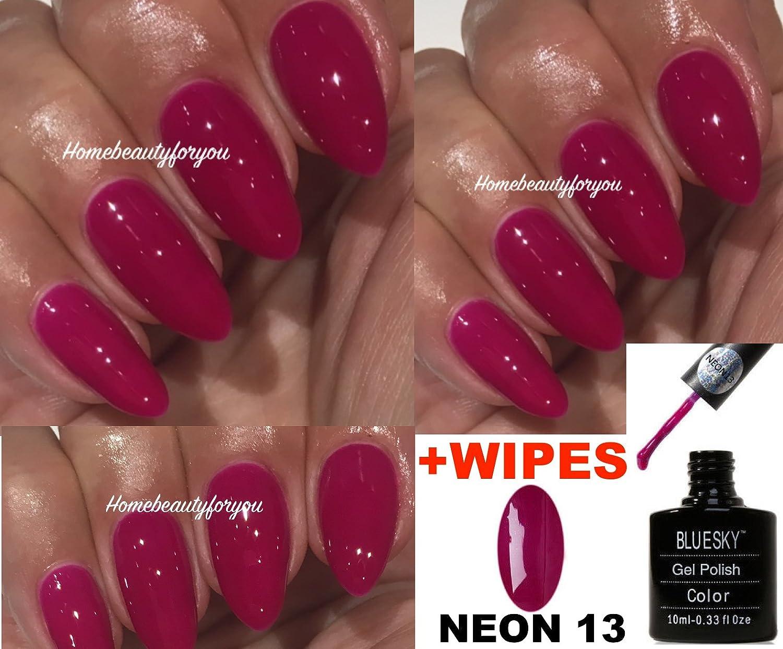 Bluesky Neon 13 Blackcurrant Dark Pink Raspberry Nail Gel Polish UV ...