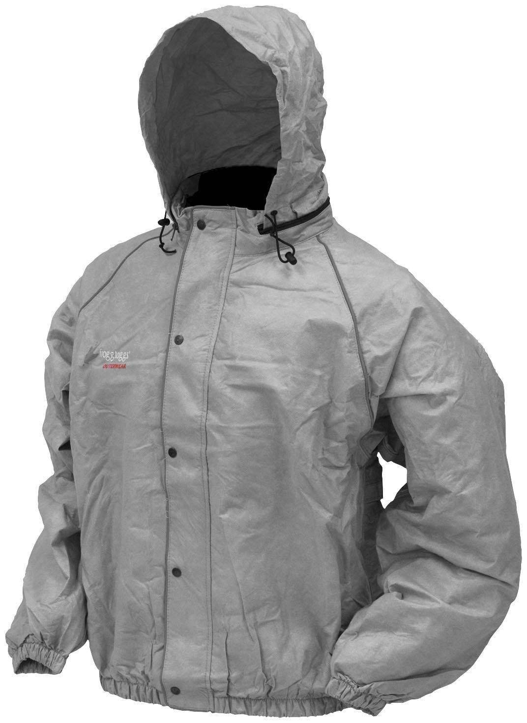 Road Toad Rain Jacket, Gray, X-Large Frogg Toggs FT63132-07XL