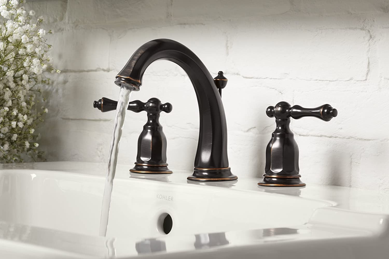 KOHLER K-13491-4-CP Kelston Widespread Bathroom Sink Faucet ...