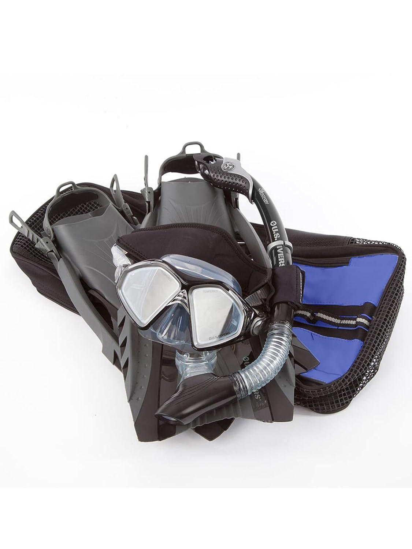 最新発見 US Divers Admiral (mens Dry bag Snorkeling Set with 4-8.5) Premium Accessories Small/Medium (mens 4-8.5) Black with blue bag by U.S. Divers B00KR05A3A, 京都肌着本舗:c074bbbb --- mcrisartesanato.com.br