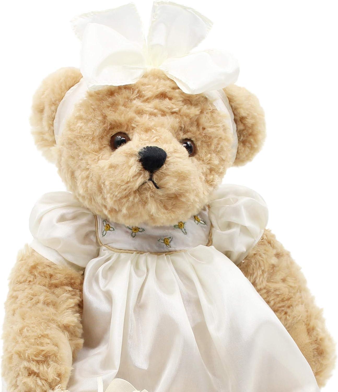 "Oitscute Teddy Bears Baby Cute Soft Plush Stuffed Animal Toy for Girl Women 16"" (Brown Bear Wearing White Sleepwear): Toys & Games"