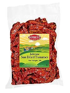 SUNBEST Sun-Dried Tomatoes Bulk Deal, Ready to Eat , NON GMO - Vegan & Kosher (Julienne Cut, 5 Lb)