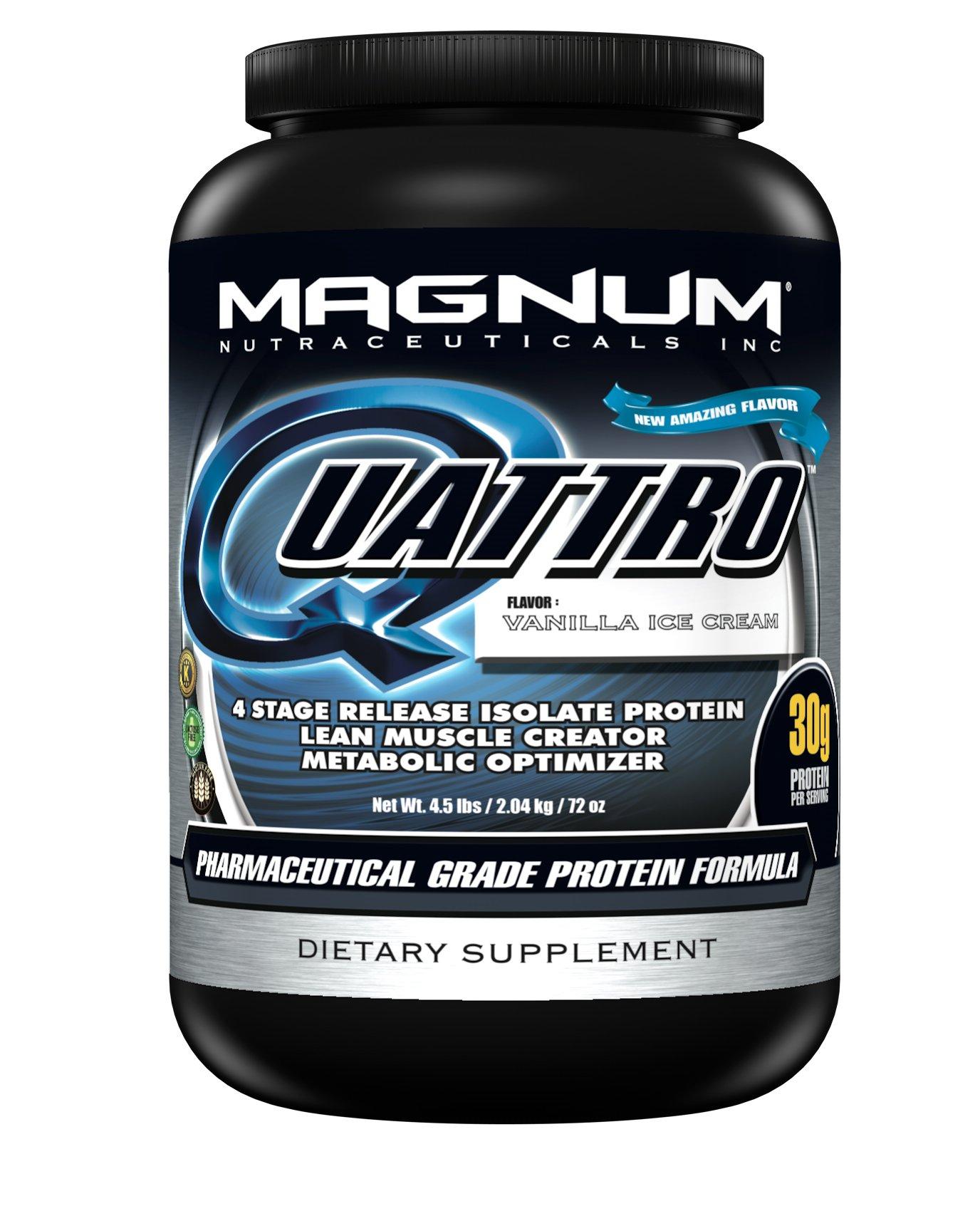 Magnum Nutraceuticals Quattro Supplement, Vanilla Ice Cream, 4.5 Pound