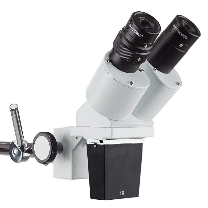 AmScope SE400Z 10X-20X Microscopio Binocular Brazo Boom Stereo Plus Luz: Amazon.es: Juguetes y juegos