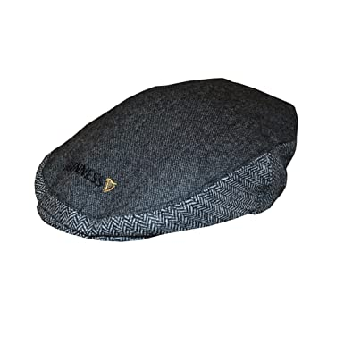 4ed64fe43e5 Guinness Grey Tweed Flat Cap (Medium   Large)  Amazon.co.uk  Clothing