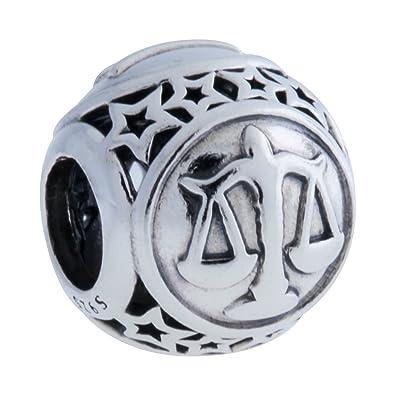 525ab3c44 Amazon.com: Pandora Libra Star Sign Silver Charm 791942: Jewelry