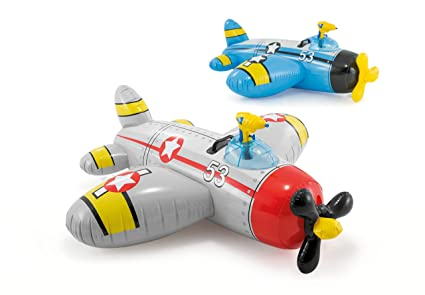 Intex Figura Avion Hinchable (132X130 CMS) con Pistola Lanza Agua, Multicolor (57537NP