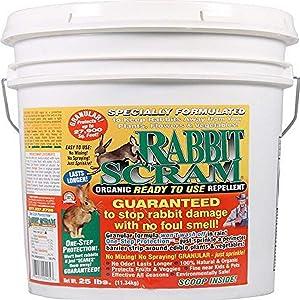 Enviro Pro 11025 Rabbit Scram Repellent Granular White Pail
