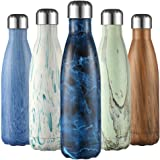 Liveup SPORTS Vacuum Insulated Stainless Steel Reusable Water Bottles 17oz Food Grade Sports Bottle, Keeps Drinks Cold for 24 Hours & Hot for 12 Hours
