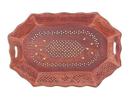 IndiaBigShop Regalo del día del padre Madera hecho a mano 14 x 9 pulgadas Bandeja -
