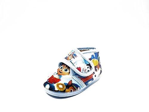 Zapatilla/bota estar por casa niñ0/a LA CUBIERTA, paño color azul celeste