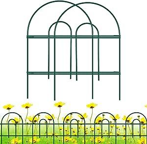 "Gtongoko Decorative Garden Fence 18"" x 17"",Garden Barrier Portable Decorative Flower Fence,Animal Barrier,Border Garden Fence for Landscape,Trees,Flower Beds,Shrubs,Gardens,Green,Pack of 12"