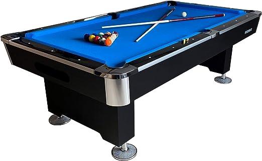BuckShot Mesa de Billar Lemans 8ft 2 Leg - 240x130 cm - 350kg - Mesa Billar Americano 8 pies - Pizarra - Incluyendo Accesorios: Amazon.es: Deportes y aire libre