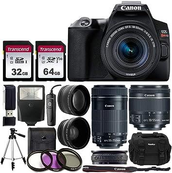 Amazon.com: Canon EOS Rebel SL3 Cámara réflex digital (negro ...