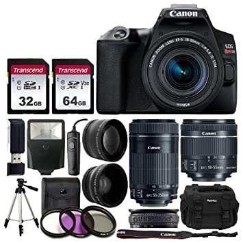 Amazon.com: Canon EOS Rebel SL3 Cámara réflex digital (negro ...