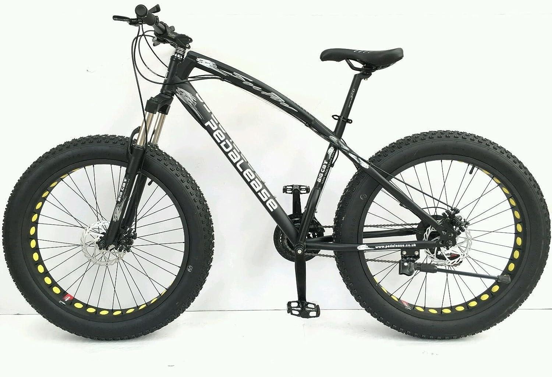 PedalEase Big Cat Fat Bicicleta MTB Nieve Playa Suspensión Frontal Disco Freno 21 Velocidad: Amazon.es: Deportes y aire libre