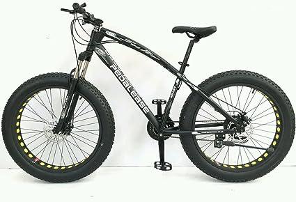 PedalEase Big Cat Fat Bicicleta MTB Nieve Playa Suspensión Frontal Disco Freno 21 Velocidad